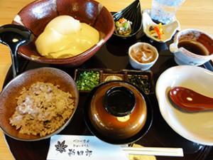 《 できたて寄せ豆腐御膳 》¥1,250(税込)