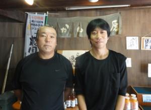 岡本社長とスタッフの高垣さん