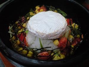 チーズ石焼きビビンバリゾット 1,080円
