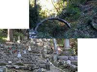 石橋と五百羅漢