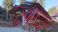 亀背橋 本堂へ続く赤塗りの橋